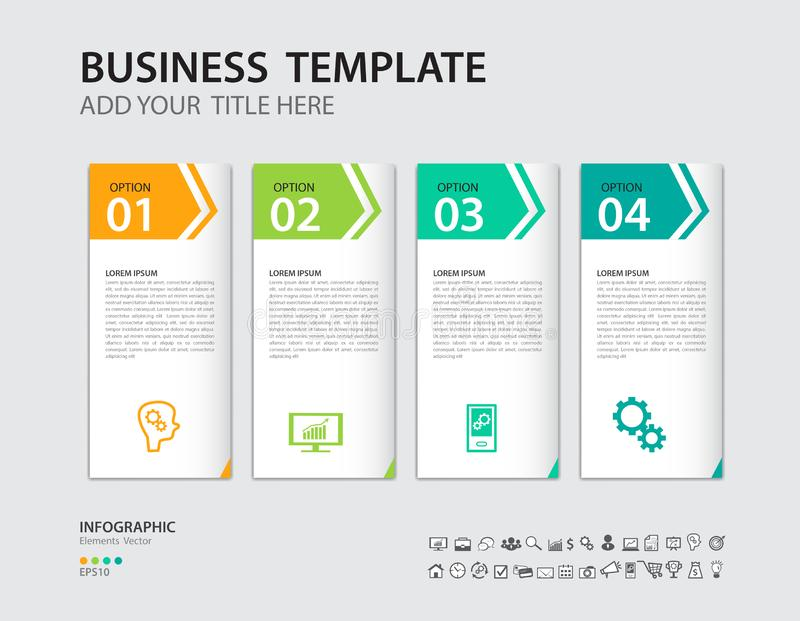 Infographics design vector template, Timeline, process chart, presentation, diagram, creative concept for infographic, web page. Banner, business step options royalty free illustration