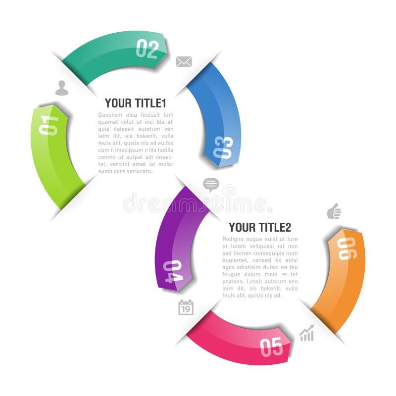 Infographics designmall vektor illustrationer