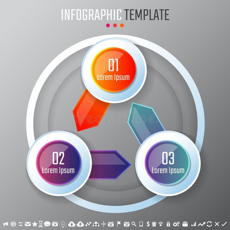 Infographics designmall royaltyfri illustrationer