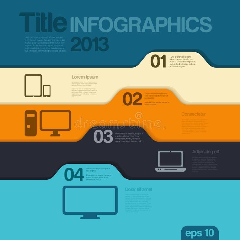 Infographics designmall. Vektor. Redigerbart. stock illustrationer