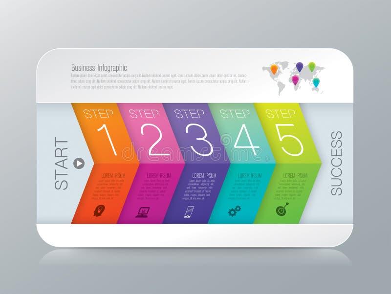Infographics-Designvektor- und -geschäftsikonen stock abbildung