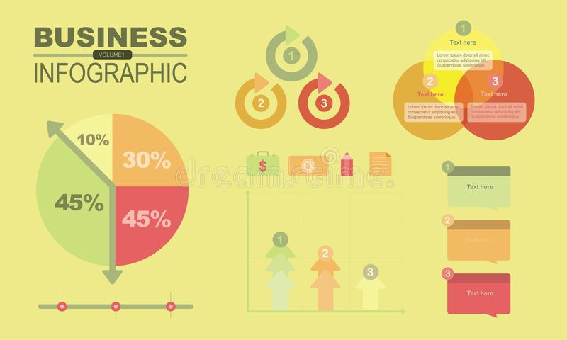 Infographics di affari ed elemento volume1 fotografie stock libere da diritti