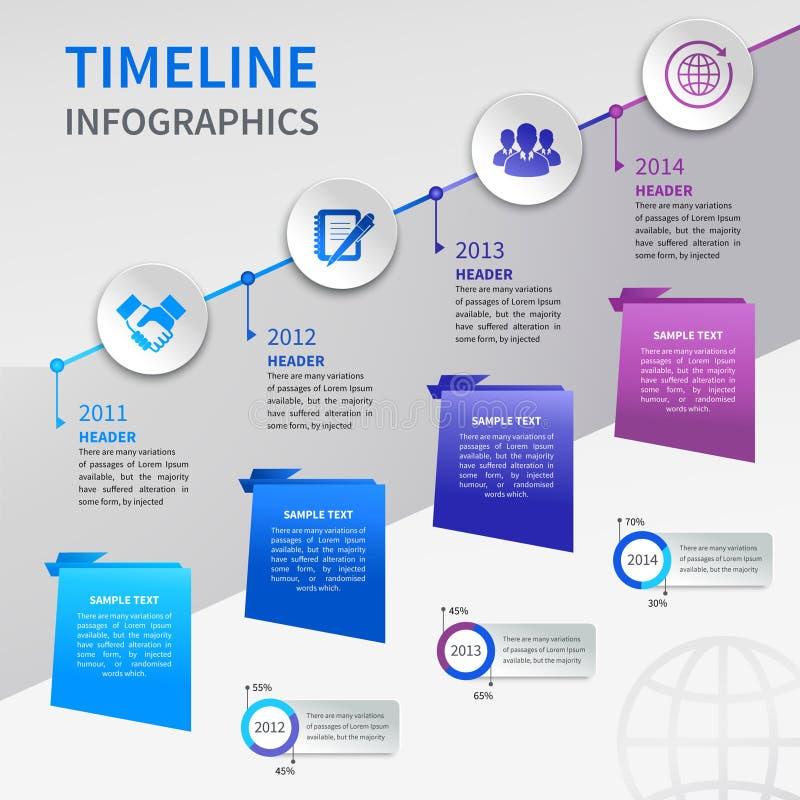 Infographics di carta di cronologia royalty illustrazione gratis