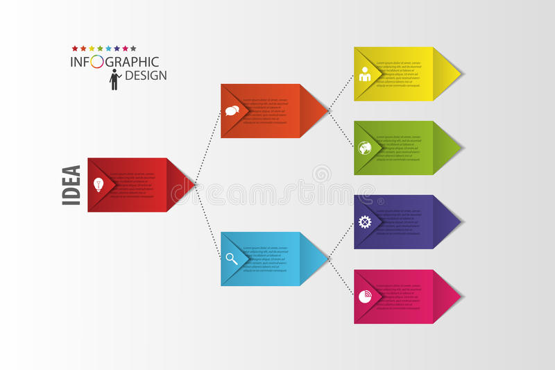 Infographics Diagram De module van de procesgrafiek Vector vector illustratie