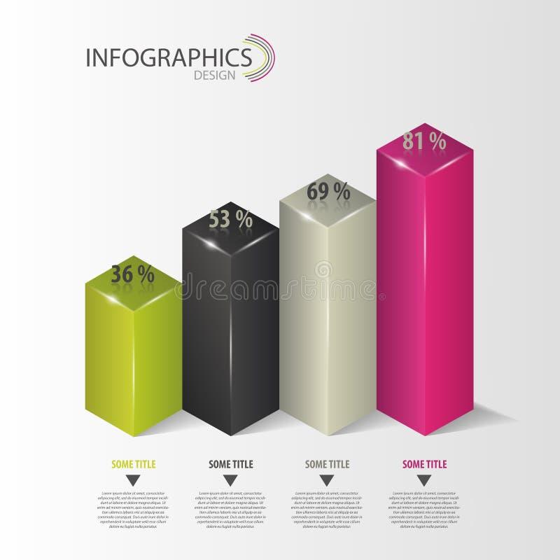 Infographics Diagram, numerowe opcje wektor ilustracji