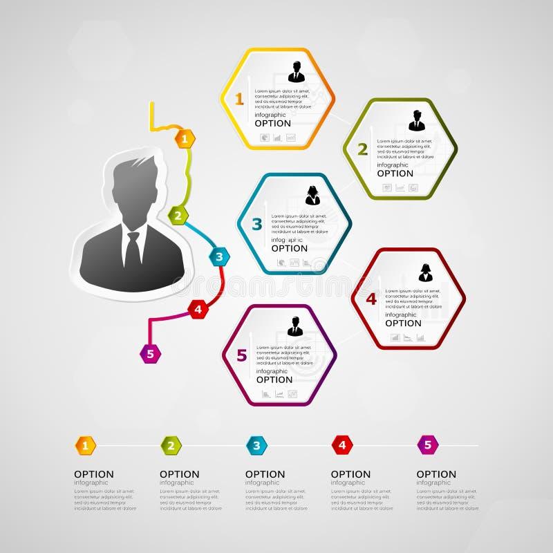 Infographics do espaço temporal do negócio ilustração royalty free