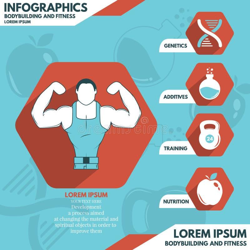 Infographics do esporte e da aptidão ilustração stock