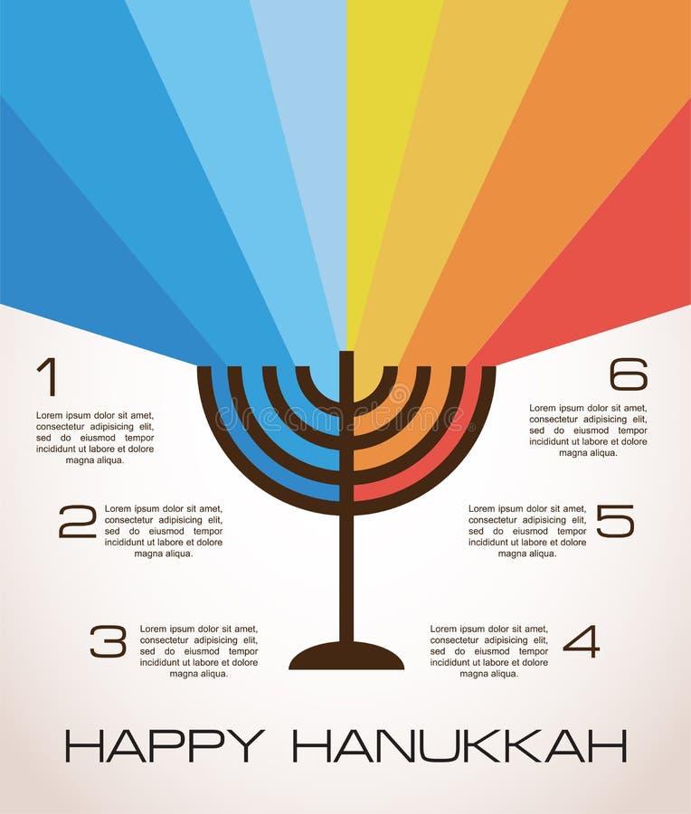 Infographics do Hanukkah ilustração royalty free