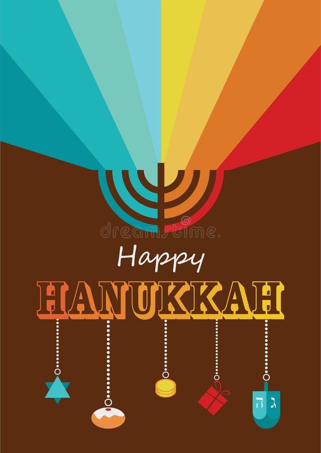 Infographics do Hanukkah ilustração do vetor