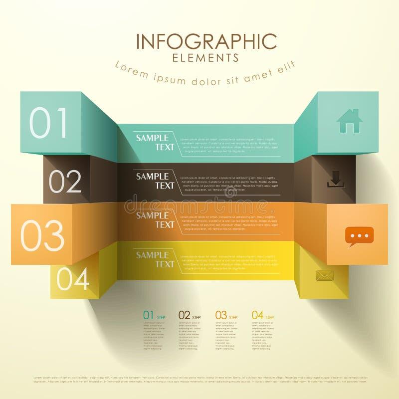 infographics do sumário do cubo 3d ilustração do vetor