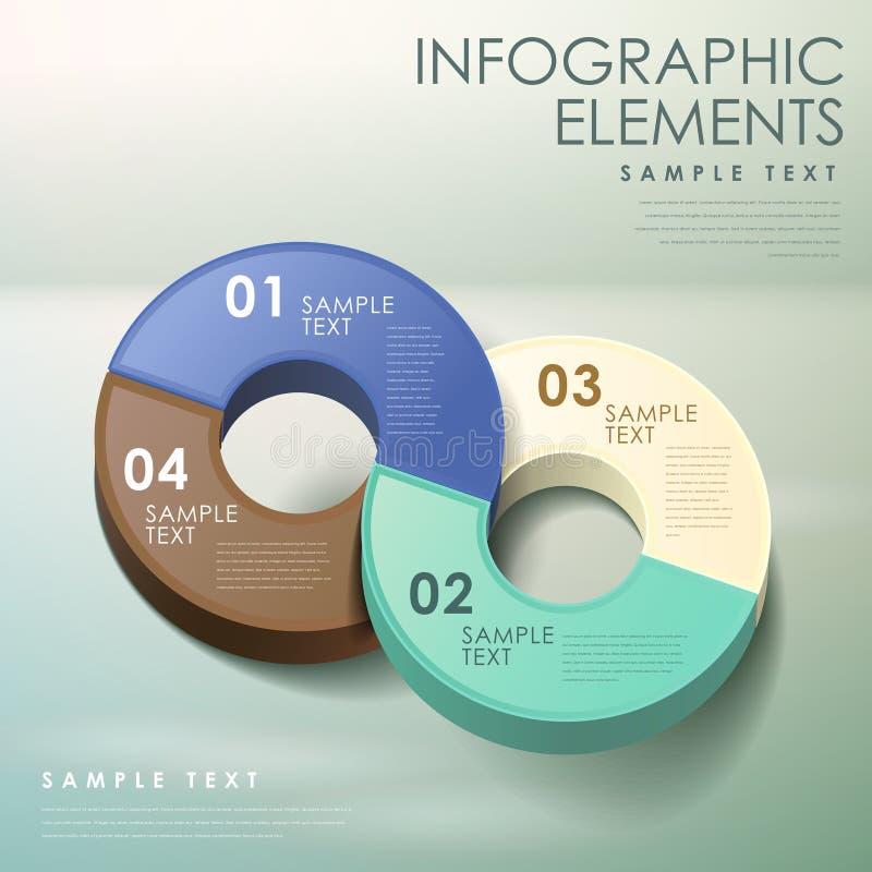 infographics du résumé 3d illustration stock