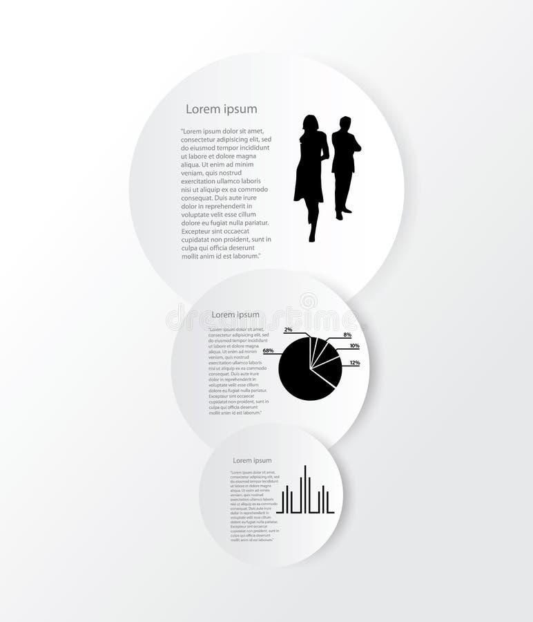 Infographics e istruzione, affare illustrazione di stock