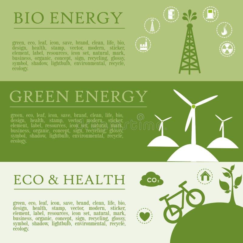 Infographics ecology royalty free illustration