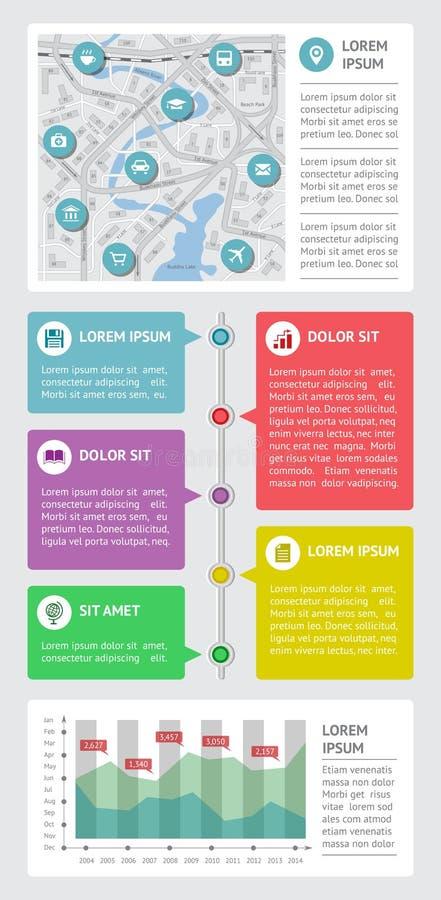 Infographics ed elementi di web illustrazione di stock
