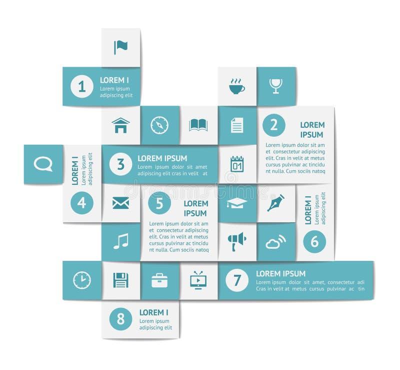 Infographics ed elementi di web illustrazione vettoriale