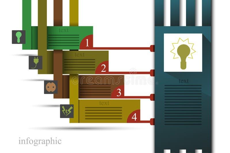 Infographics Elektro иллюстрация вектора