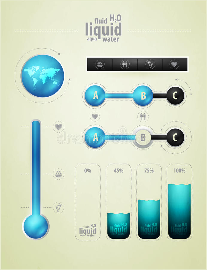 Free Infographics Element On Water Stock Photography - 21648142