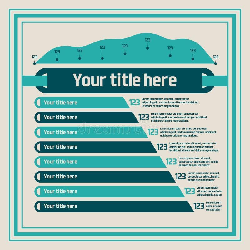 Infographics elements - bar charts, line chart stock illustration