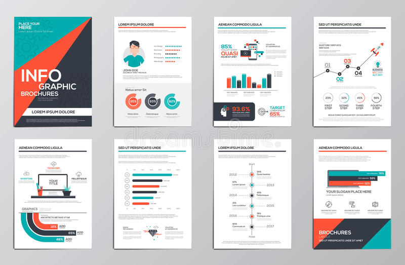 Infographics elements for corporate brochures royalty free illustration