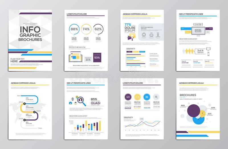 Infographics elements for corporate brochures stock illustration
