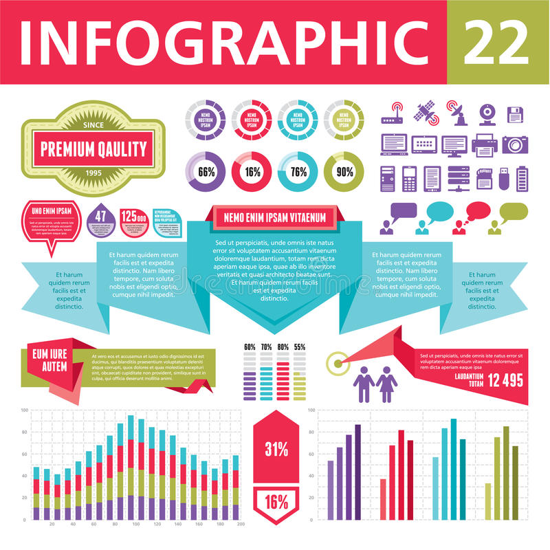 Infographics Elements 22. Set of elements for the development of creative infographics