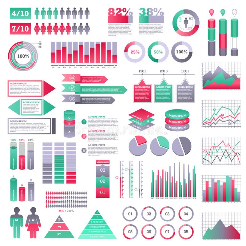 Infographics elements set stock illustration