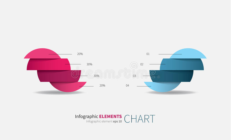 Infographics elements in two colors royalty free illustration
