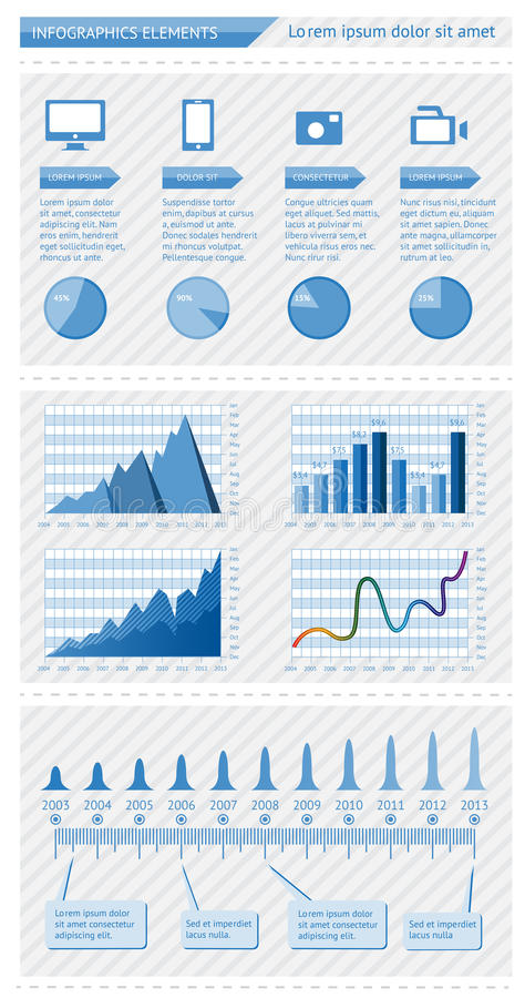 Infographics elementy royalty ilustracja