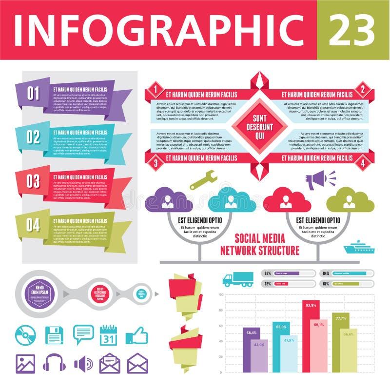 Infographics elementy 23 ilustracji