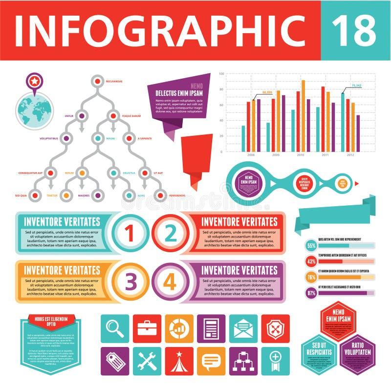 Infographics elementy 18 ilustracji