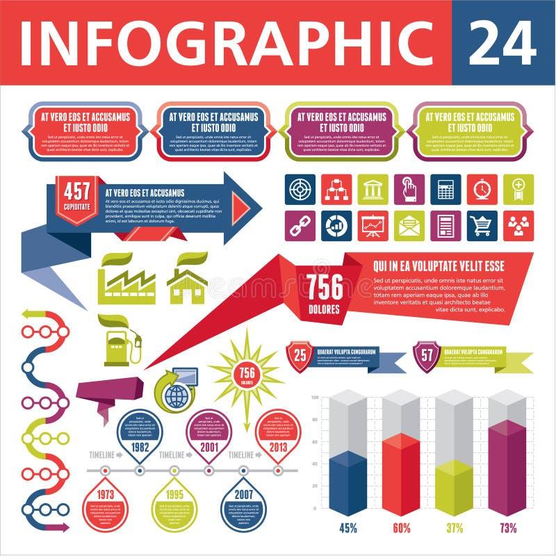 Infographics elementy 24 ilustracji