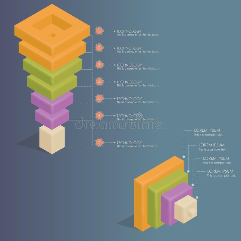 Infographics - embudo de las ventas stock de ilustración