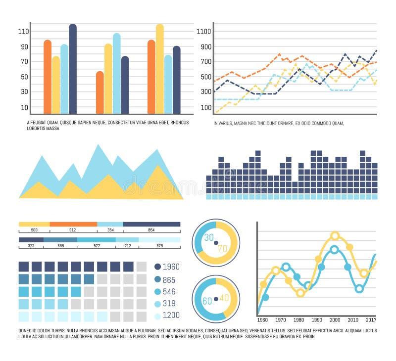 Infographics en de Grafische Presentatie van Grafiekengegevens stock illustratie