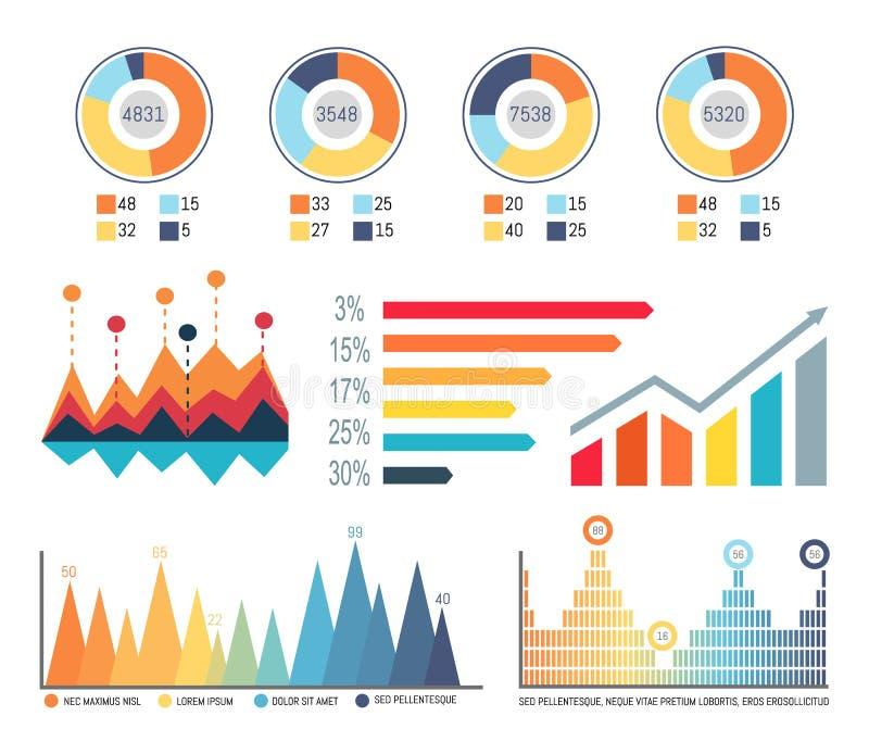 Infographics en Diagrammen, Stroomschema'sinformatie stock illustratie
