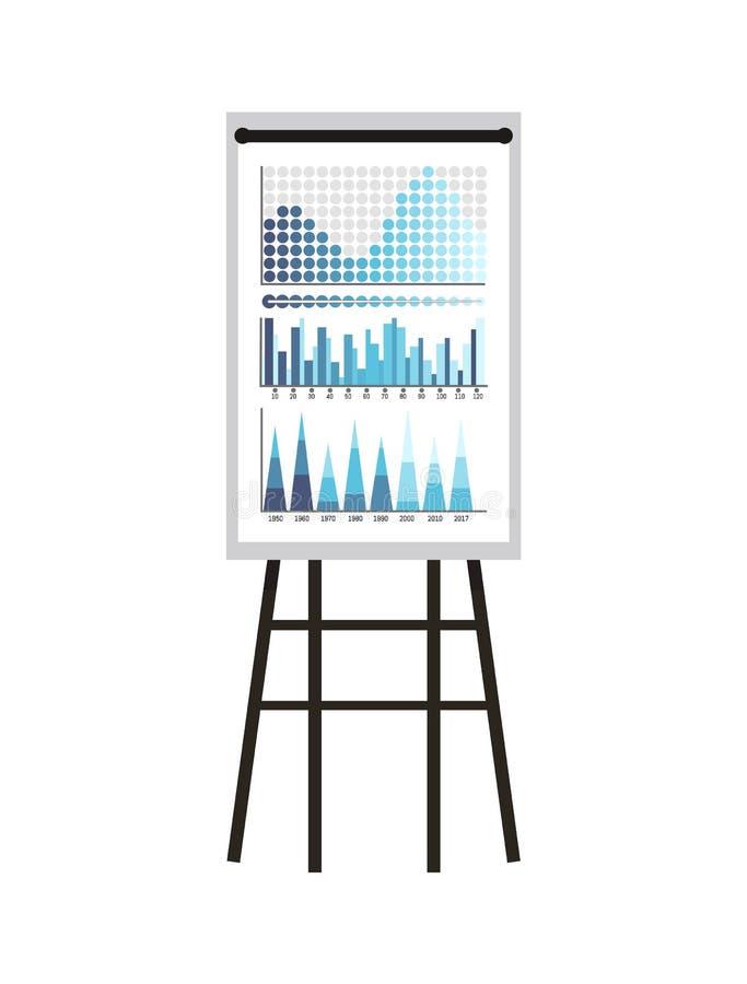 Infographics en Regelingen, Statistiekenpresentatie vector illustratie