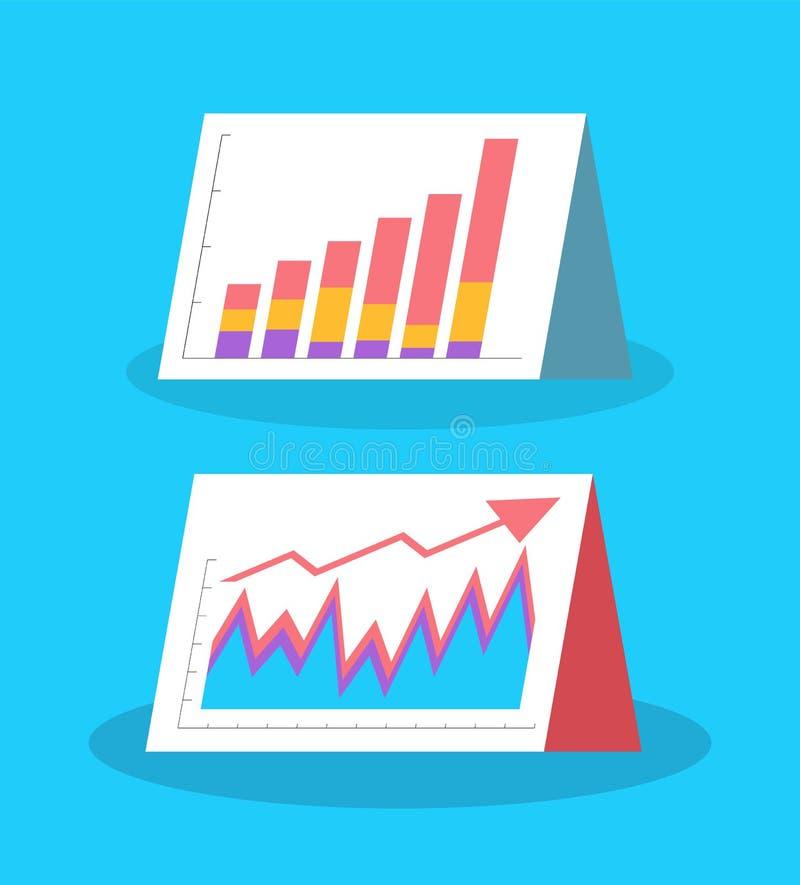 Infographics en Stroomschema's, Visuele Informatie royalty-vrije illustratie