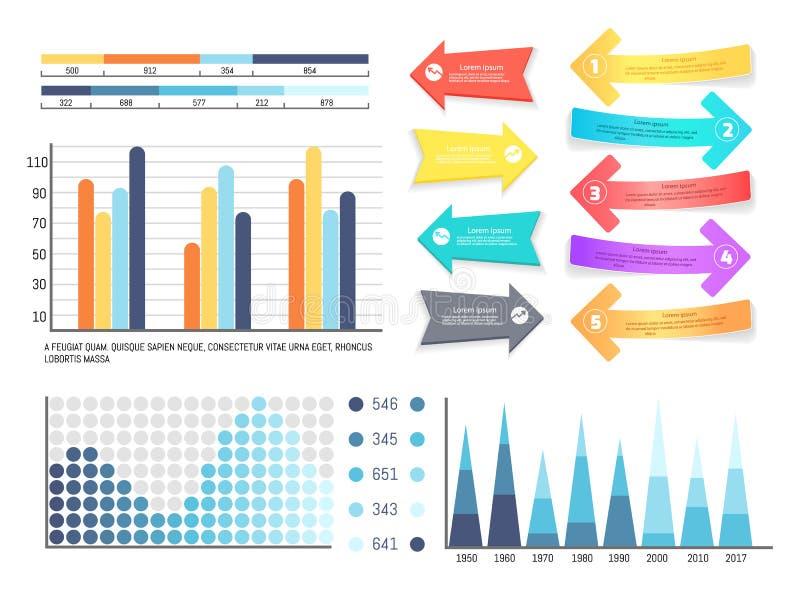 Infographics en van de Wijzersinformatie Presentatie vector illustratie