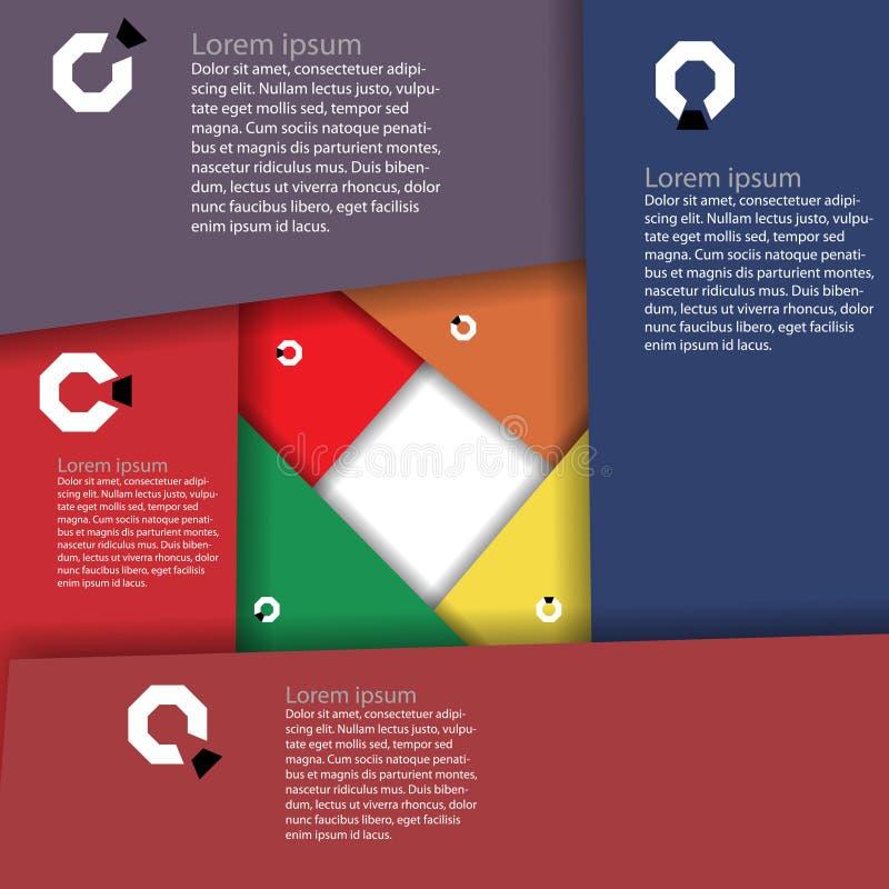 Infographics-Entwurf Stockbild