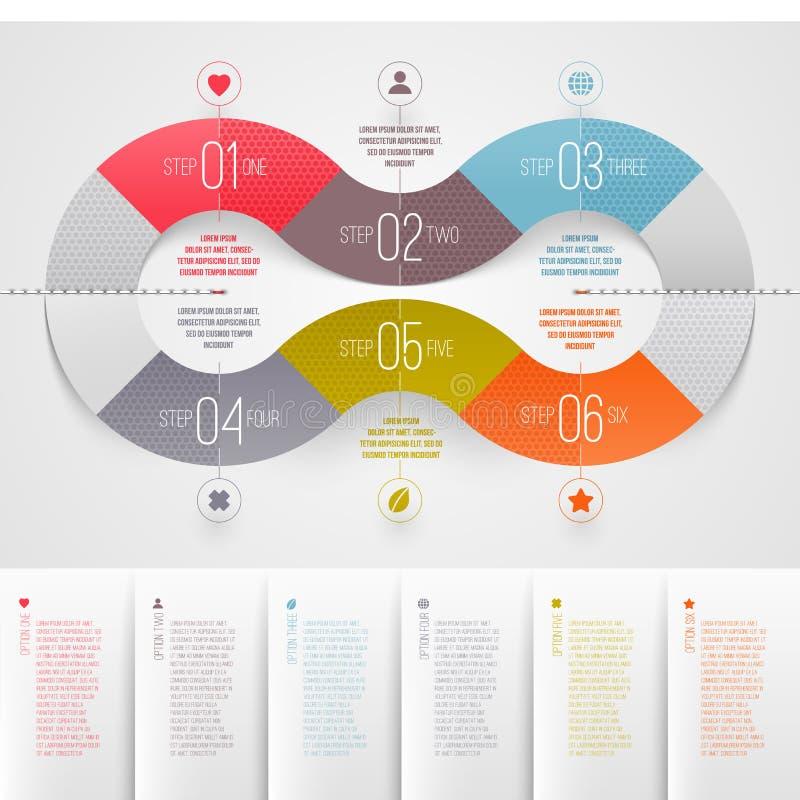 Infographics Entwurfsschablone lizenzfreie abbildung