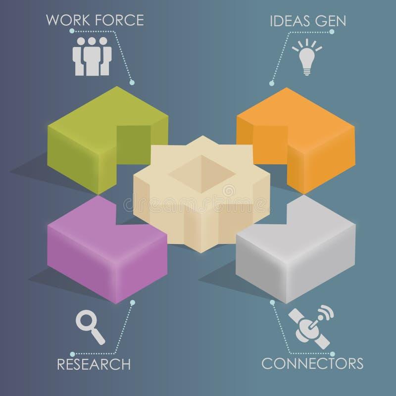 Infographics - establecimiento de una red del negocio ilustración del vector
