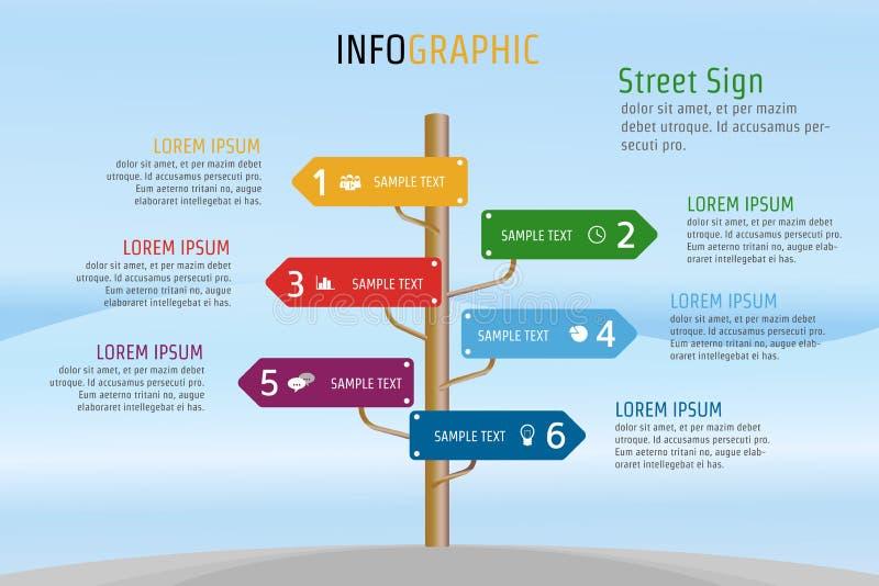 Infographics för affärspresentationsmallen, vektorillustration stock illustrationer