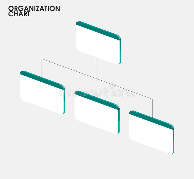 Infographics för organisationsdiagram med trädet, tem för organisationsdiagram royaltyfri illustrationer