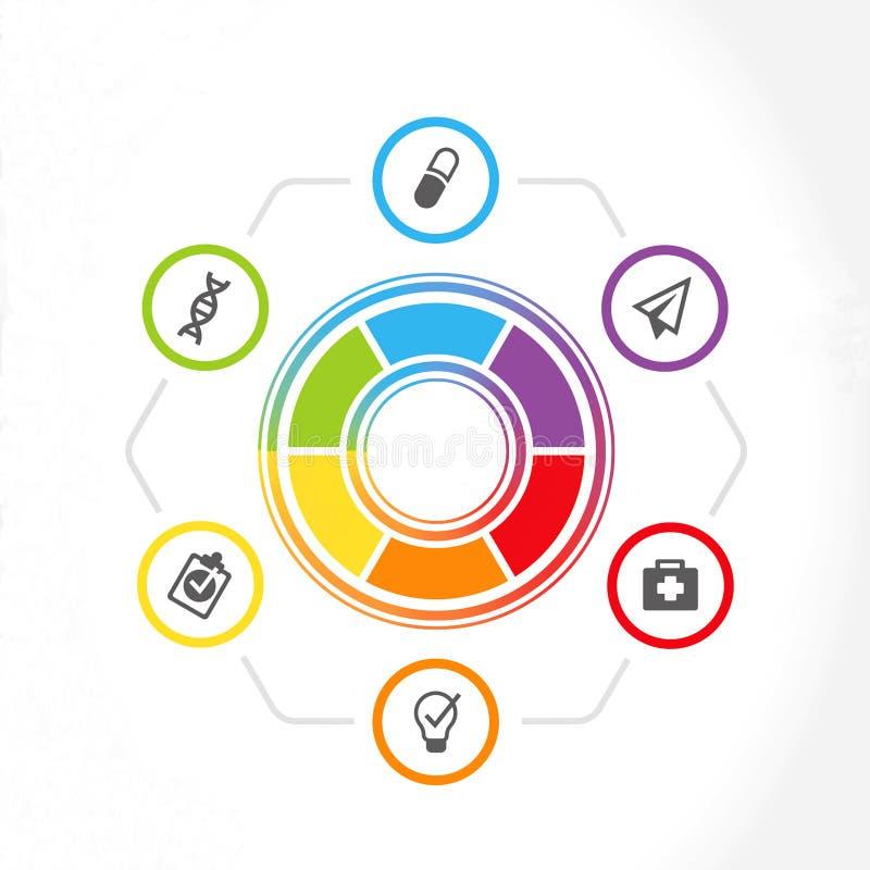 Infographics für Netzdarstellungen von Kliniken oder von Doktoren , Illustration lizenzfreie abbildung