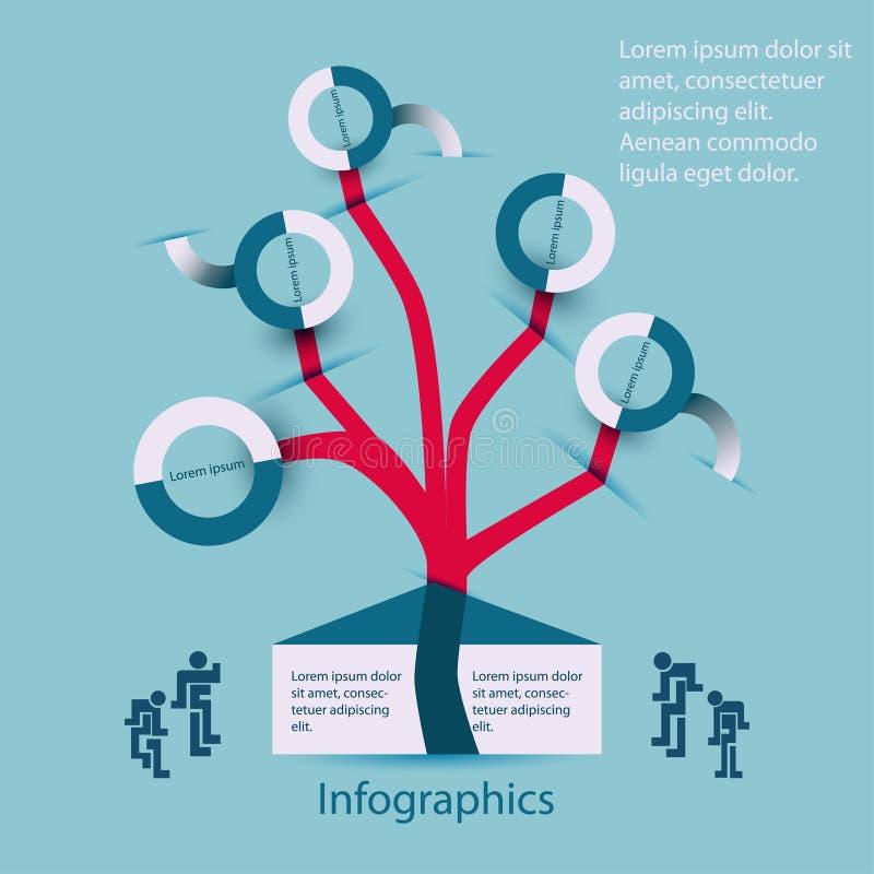 Infographics family-family tree royalty free illustration