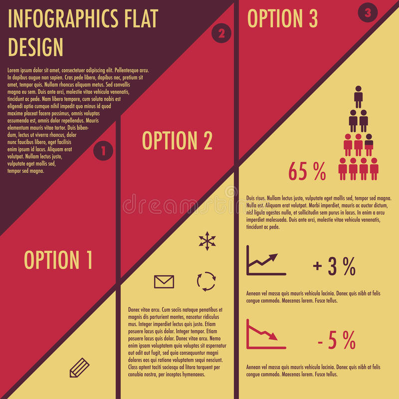 Infographics With Flat Design Royalty Free Stock Photo
