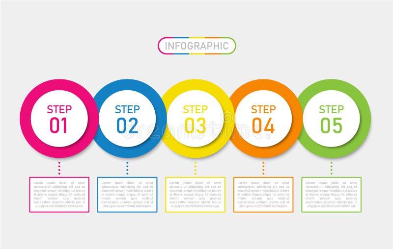 Дизайн infographics срока, для любого случая иллюстрация вектора
