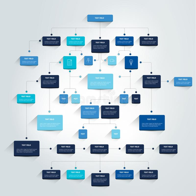 Infographics flowchart. vector illustration