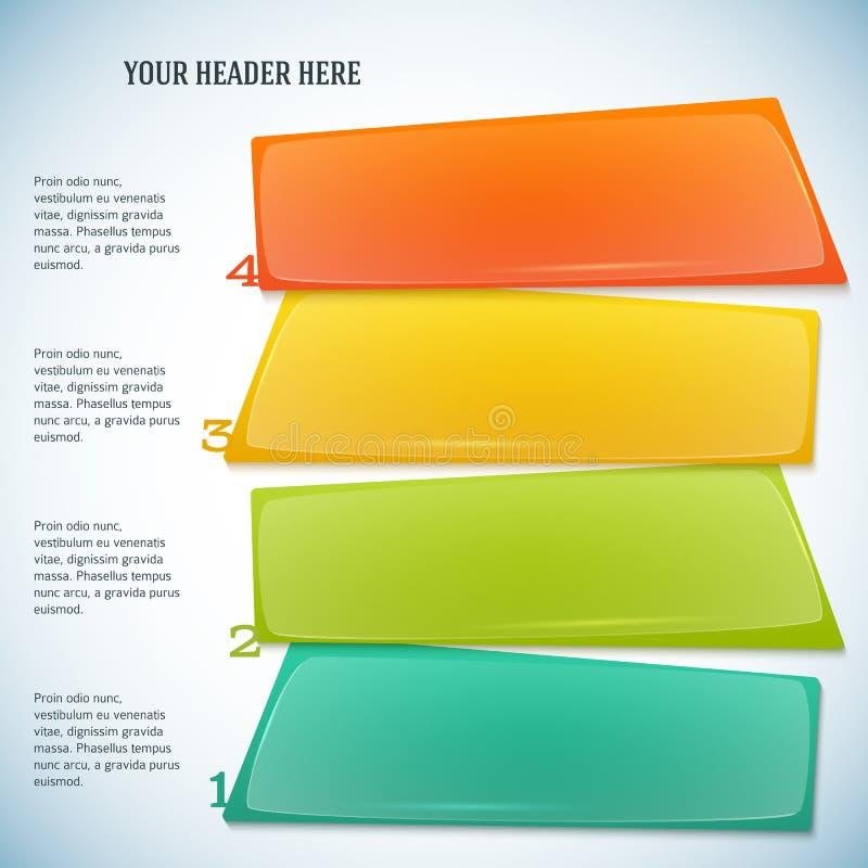 Infographics-formulário-instrução-etapa-trabalho-opções ilustração do vetor