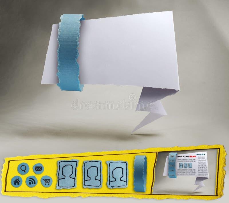 Download Infographics Fotographie Einer Blauen Origami Web Site Stockfoto - Bild von website, ikone: 26371672