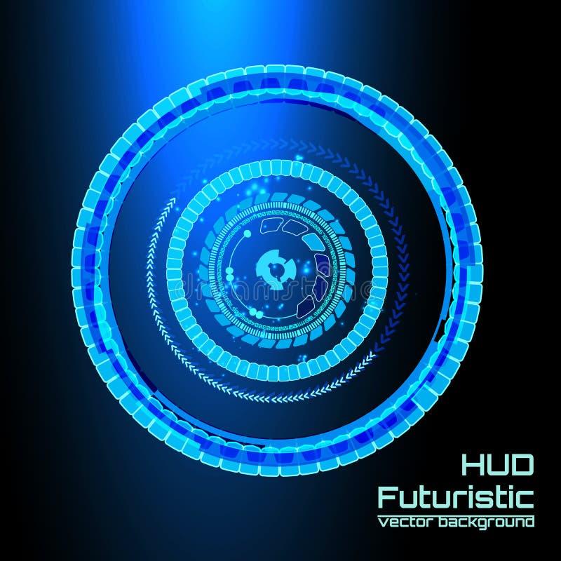 Infographics futurista del interfaz, HUD, fondo del vector stock de ilustración